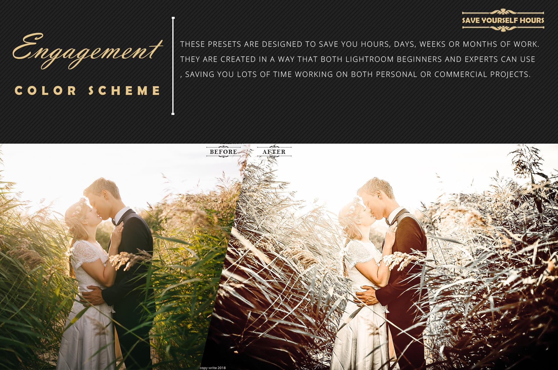 Engagement color grading lightroom presets theme example image 7