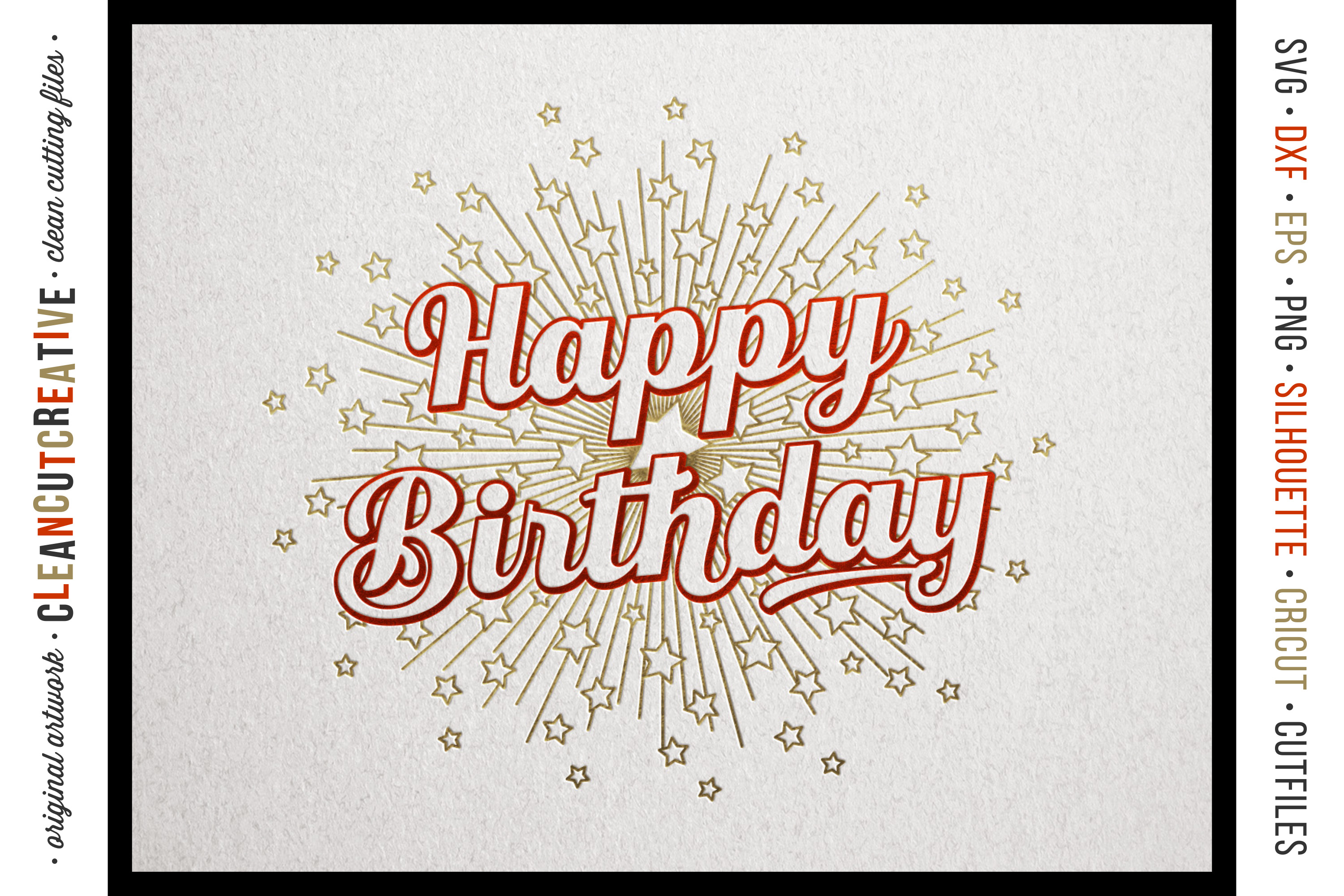 Foil Quill HAPPY BIRTHDAY single line sketch design SVG example image 3