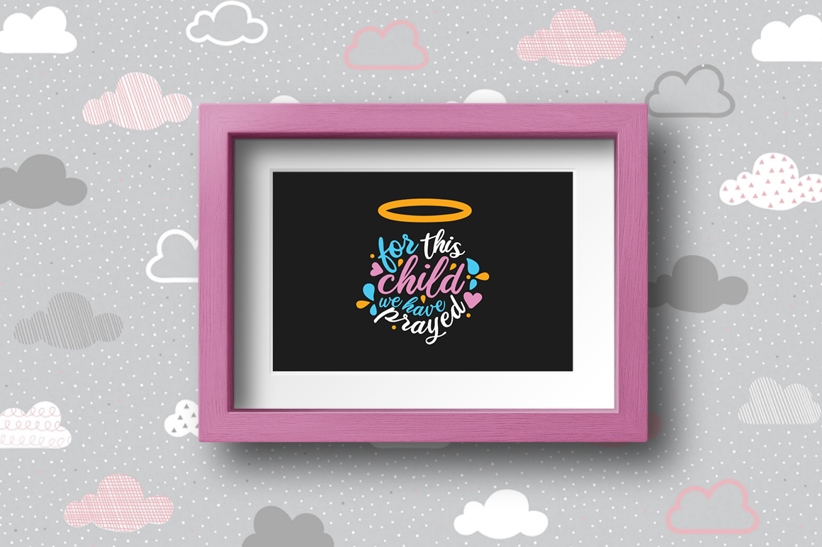 Pregnancy Announcement SVG Cut Files - For this child example image 2