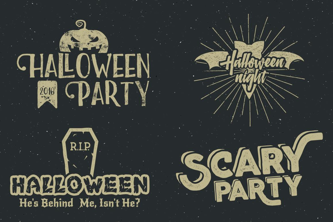 Halloween Badges Set. Vol.2 example image 4