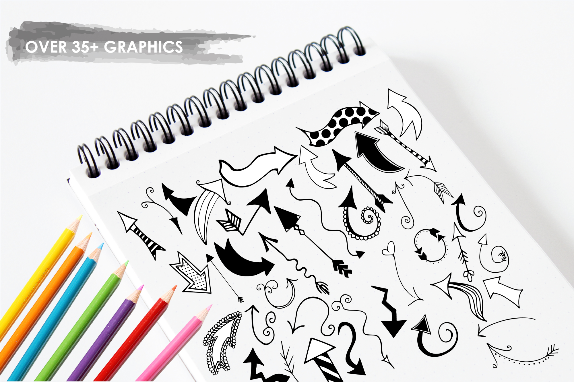 Arrow Doodles graphics and illustrations example image 3