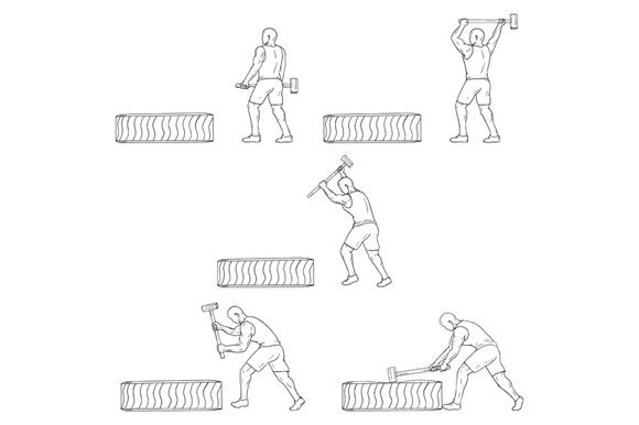 Fitness Athlete Hammer Workout Collection Set example image 1