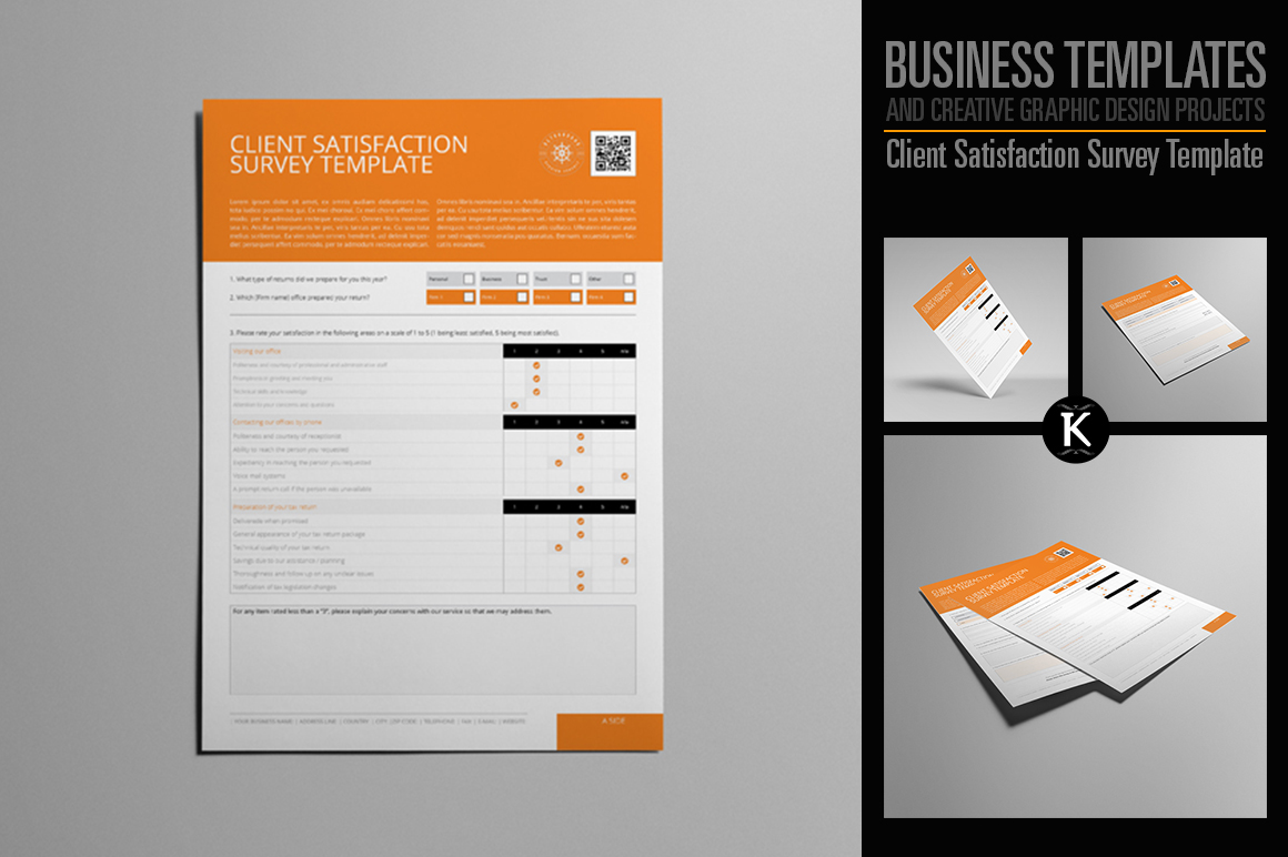 client satisfaction survey template by design bundles