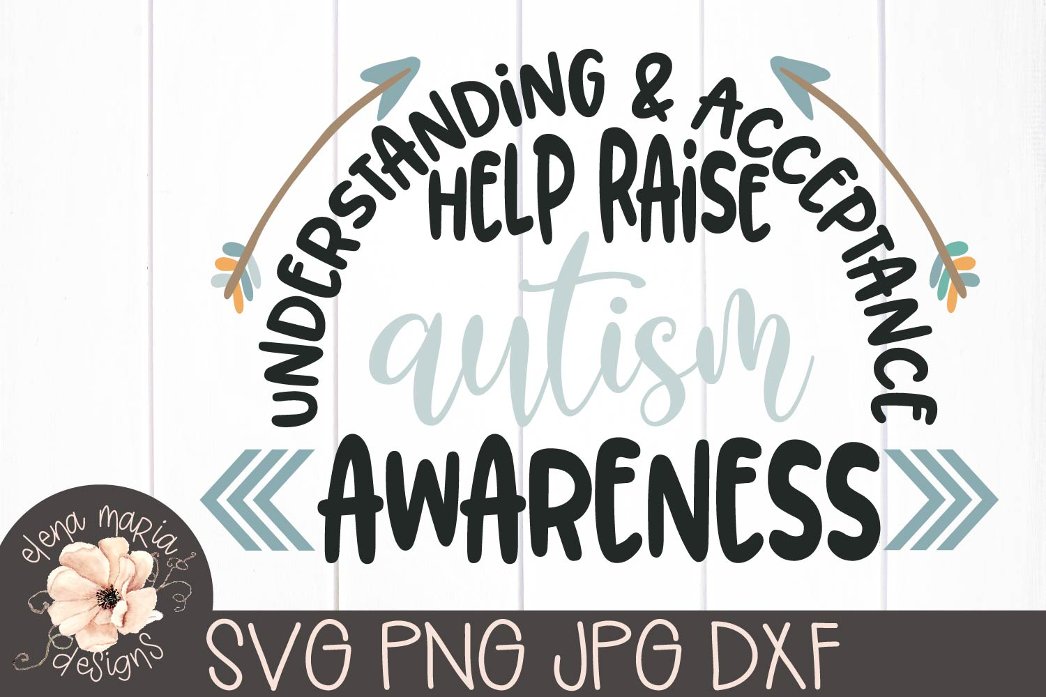 Autism Awareness Svg | Autism Sign | Be Kind | Arrows example image 2