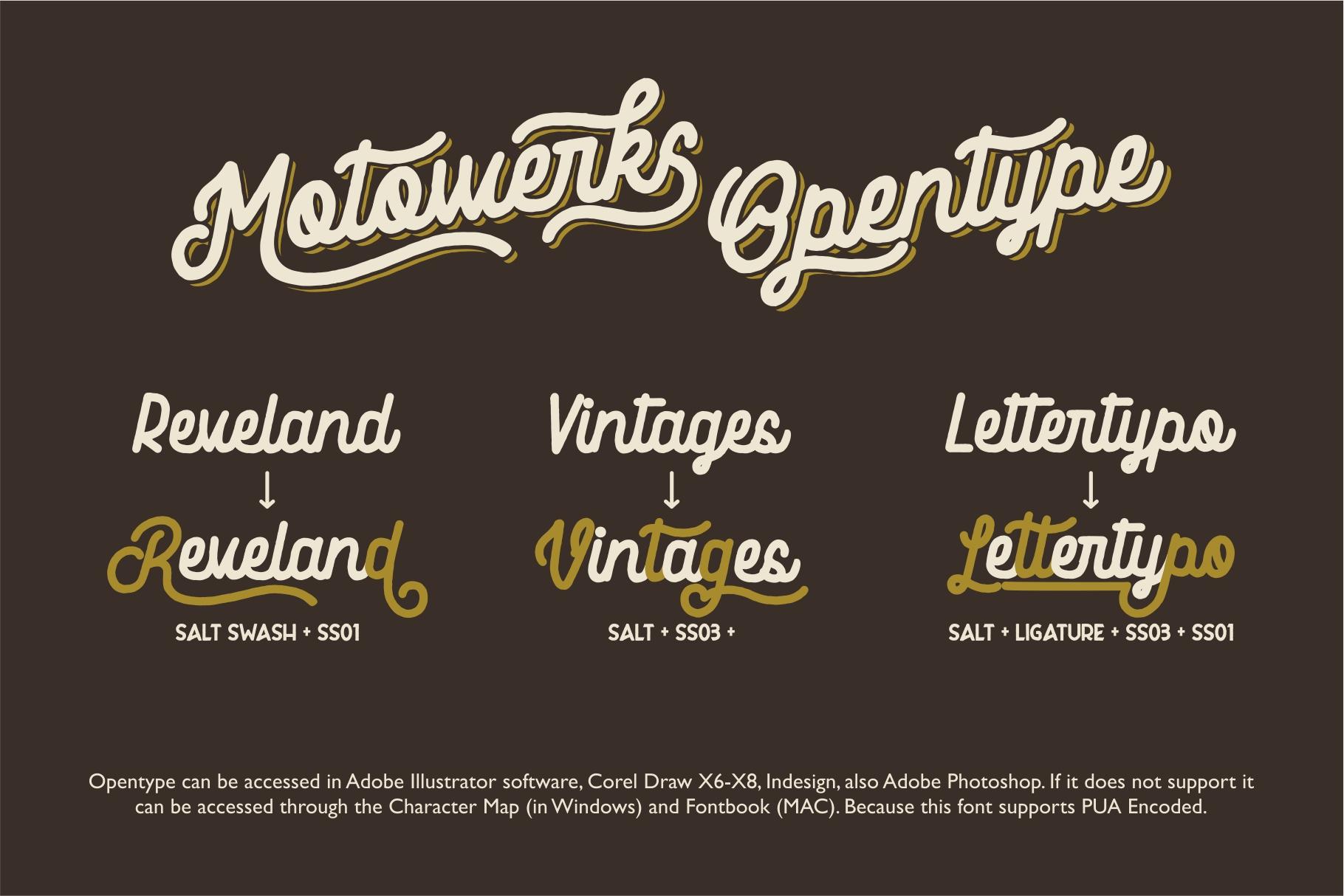 Motowerks Vintage Script example image 6