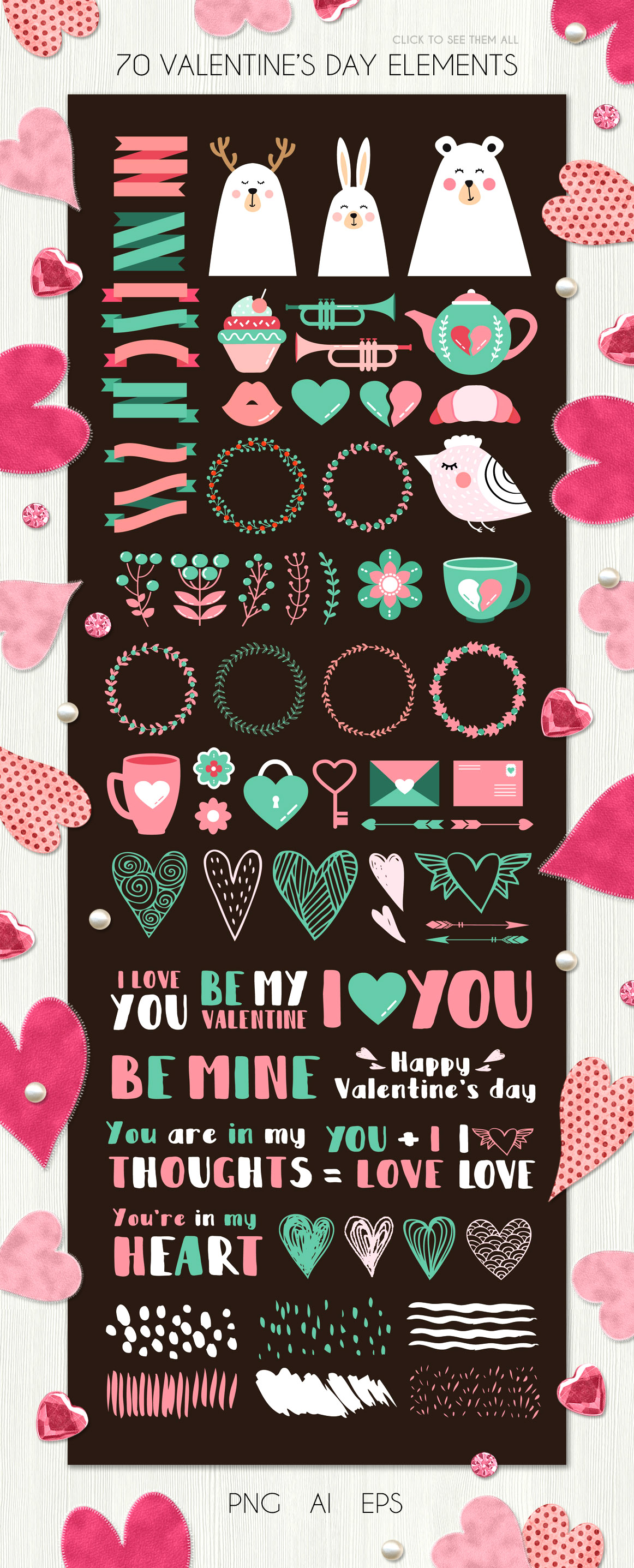 Valentine's day - vector kit example image 5