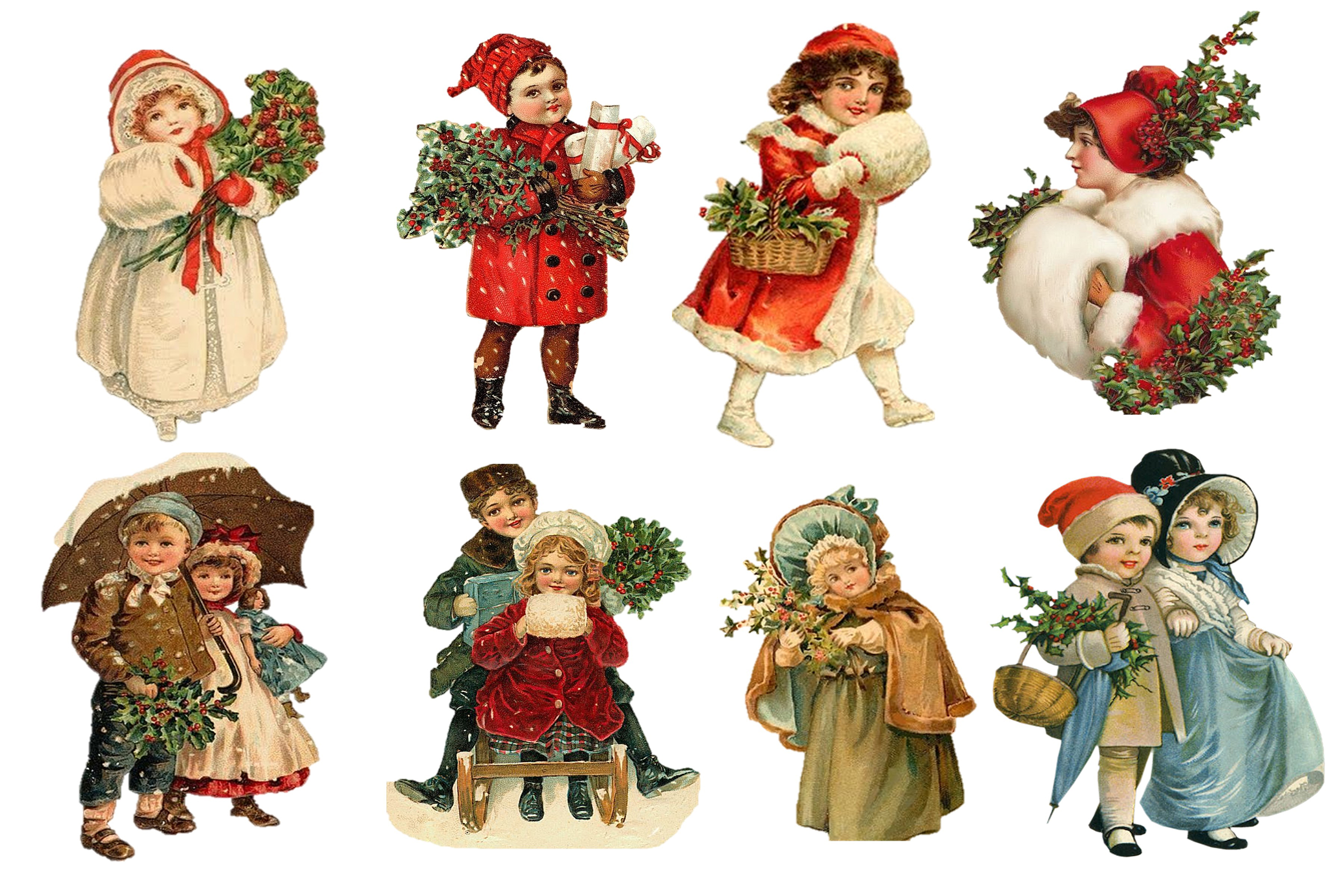 Country Christmas Backgrounds with FREE Ephemera and Clipart example image 6