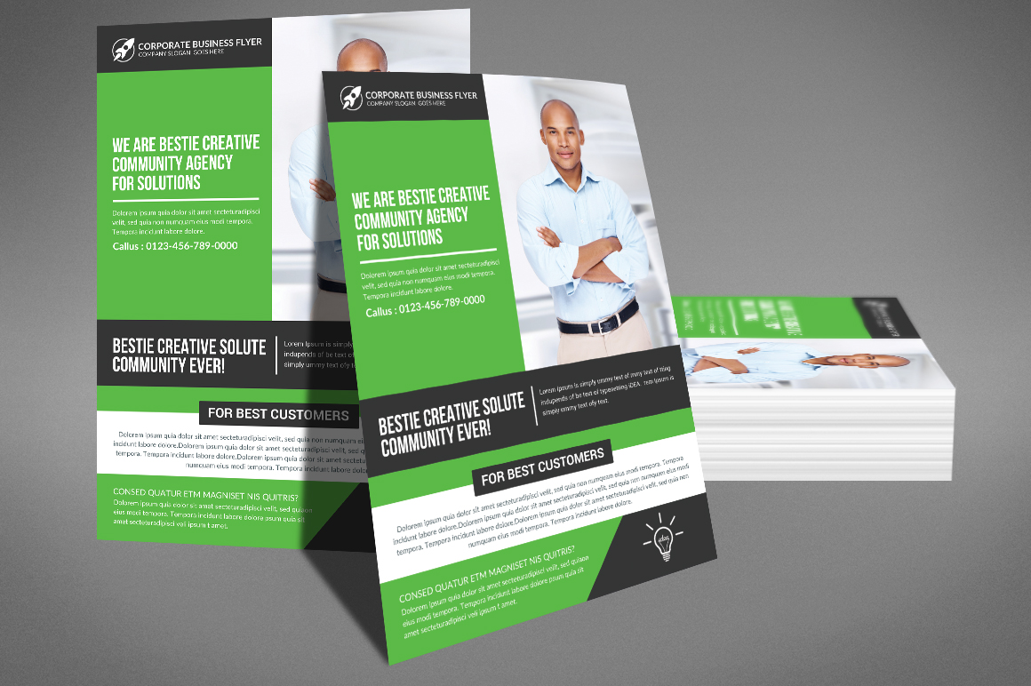 Corporate Business Solution Flyer example image 3