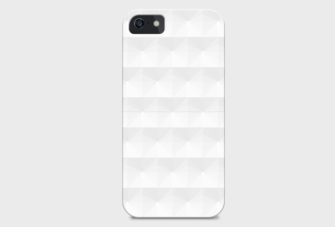 Geometric white 3d seamless textures example image 9