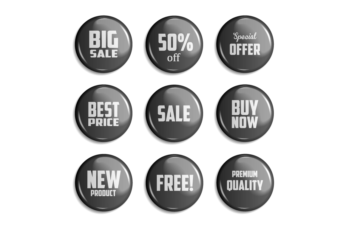 Sale Badges. 3 Colors example image 3