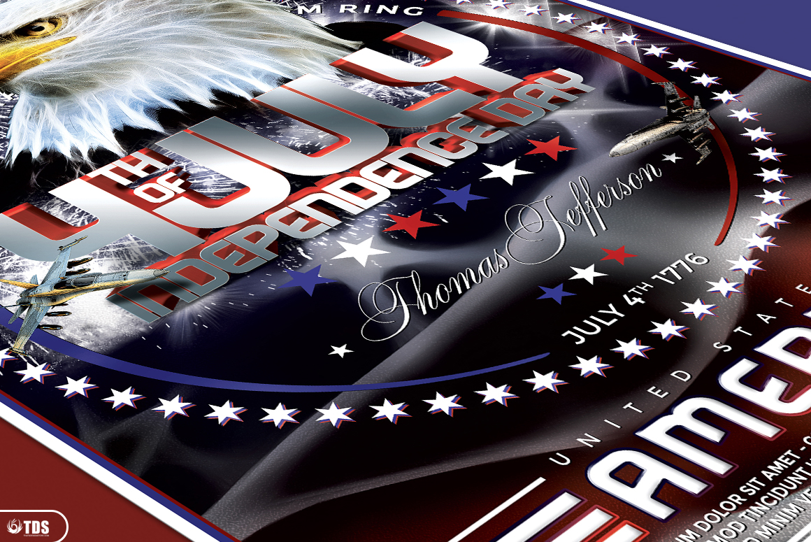 Independence Day Flyer Template V2 example image 5