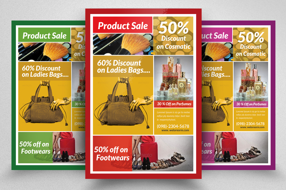 6 Products Promotion Flyers Bundle example image 7