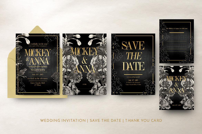 Classic Foliage Wedding Invitation example image 4