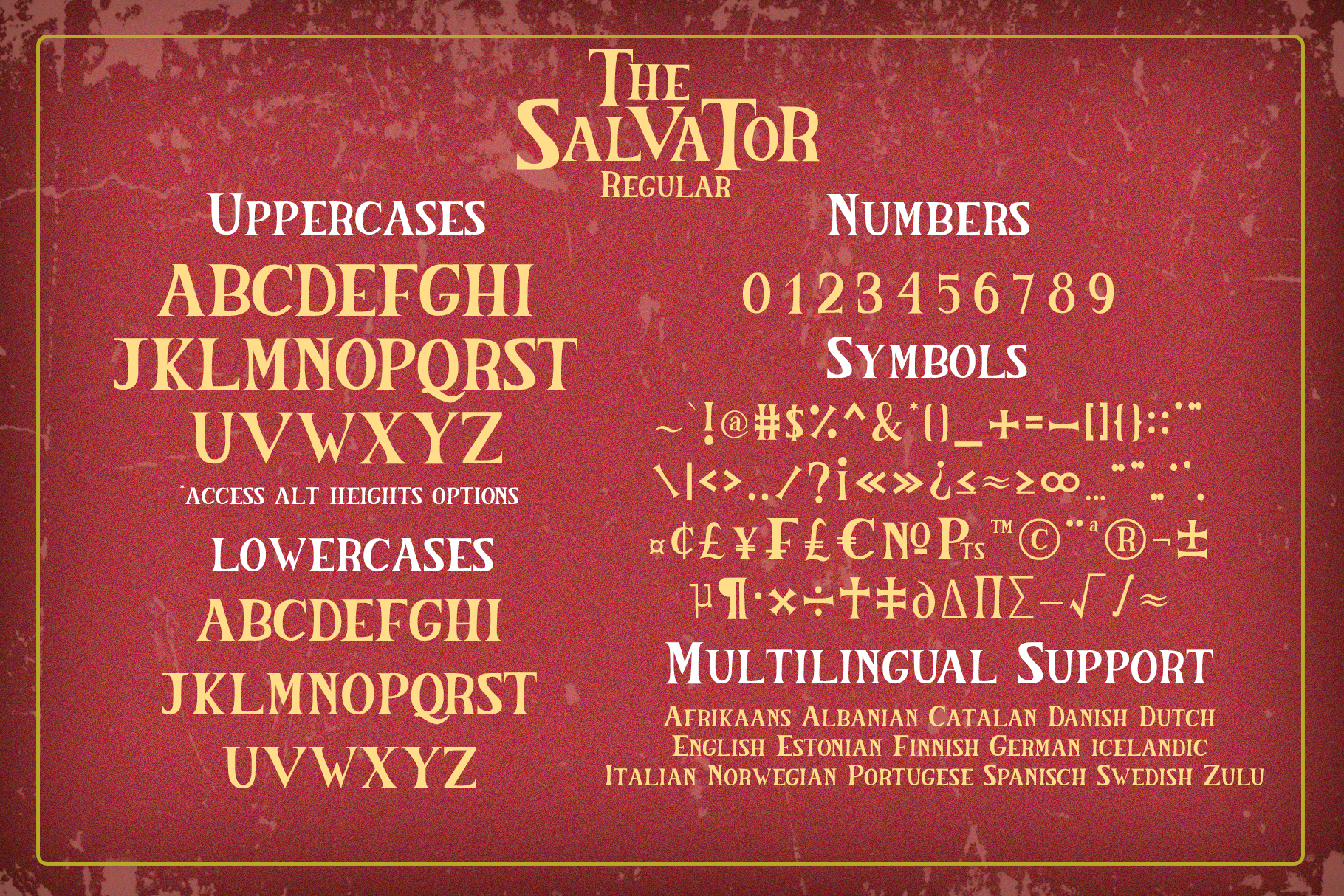 The Salvator - Vintage Font Set example image 10