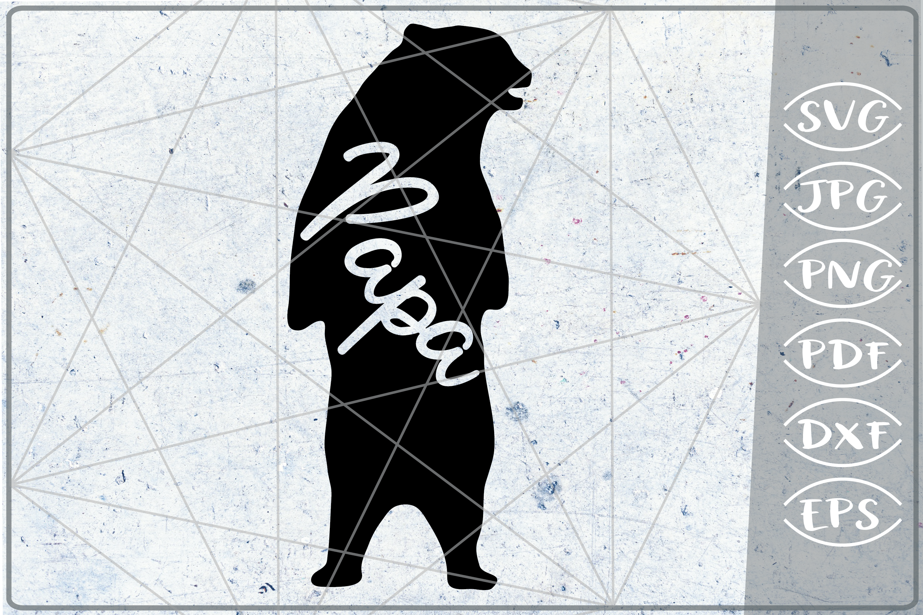 Papa Bear SVG Cutting File Mother's Day svg png cricut files example image 1