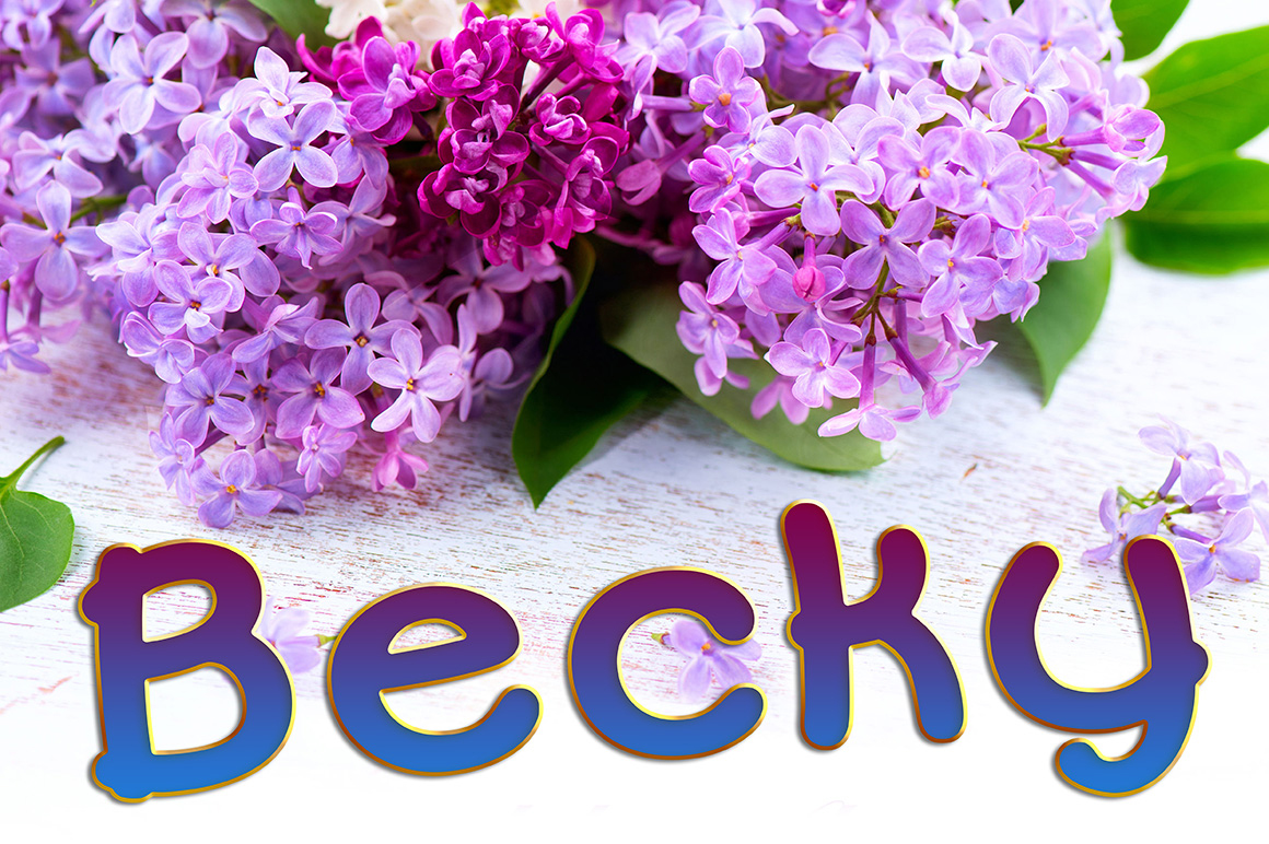 Becky Font Family example image 1