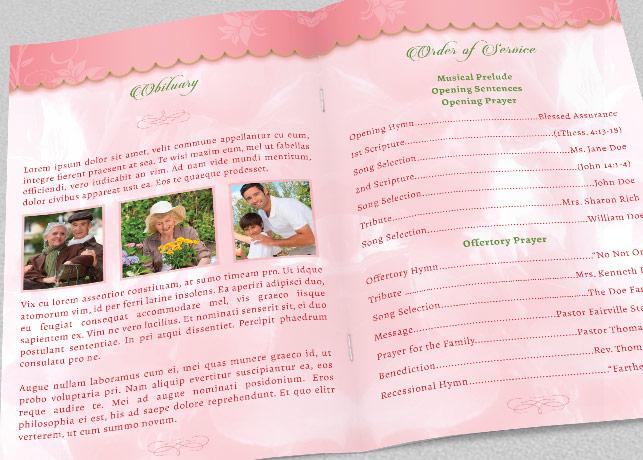 Decorative Funeral Program Template example image 3
