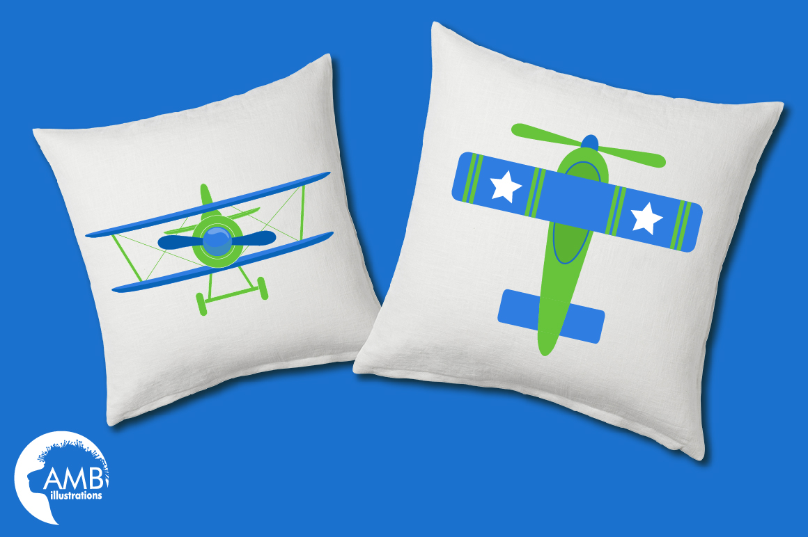 Airplane clipart, Airplane graphics, Biplane, Plane clipart, graphics, illustrations AMB-2270 example image 3