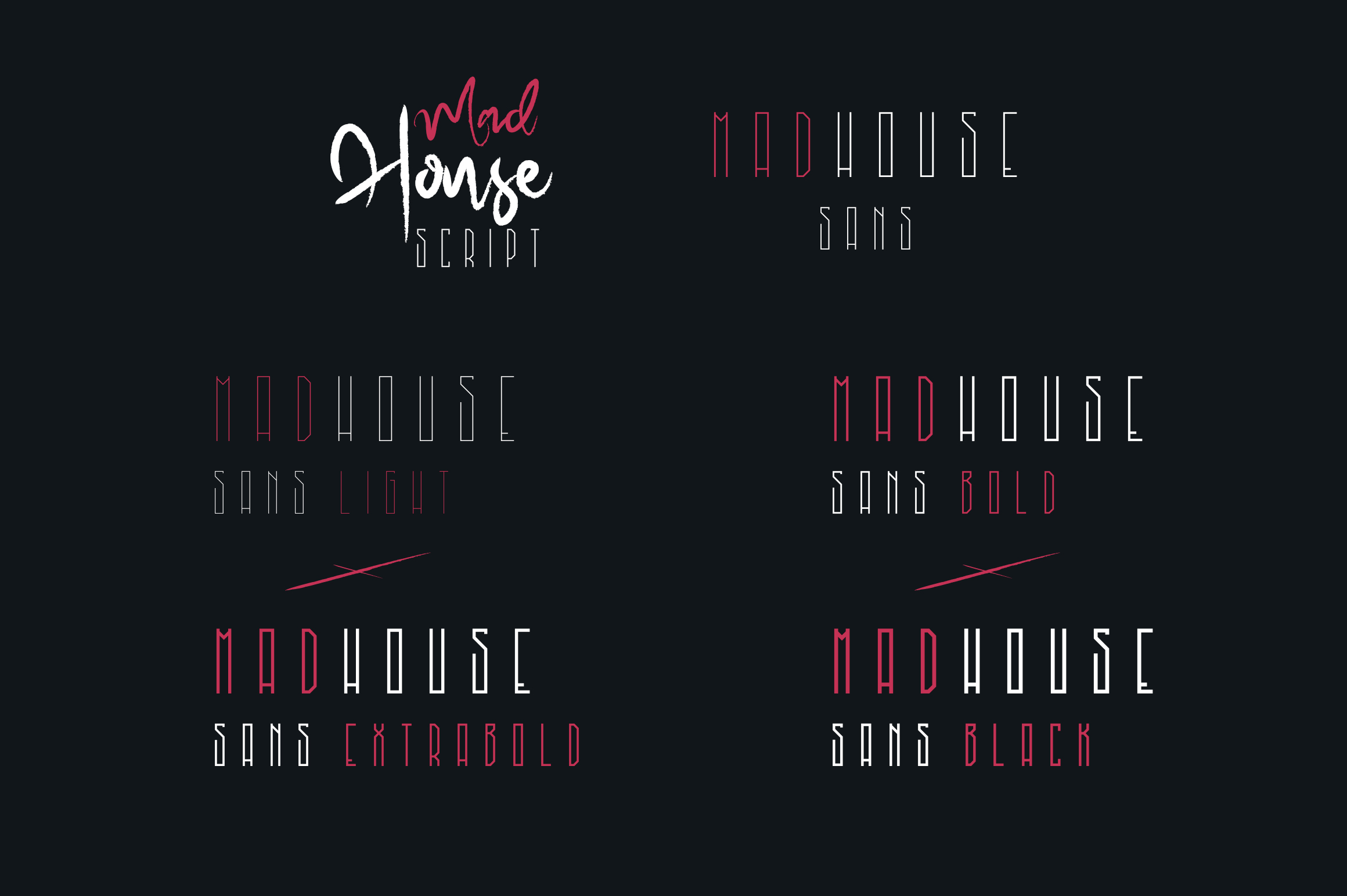 Madhouse font duo Extra example image 2