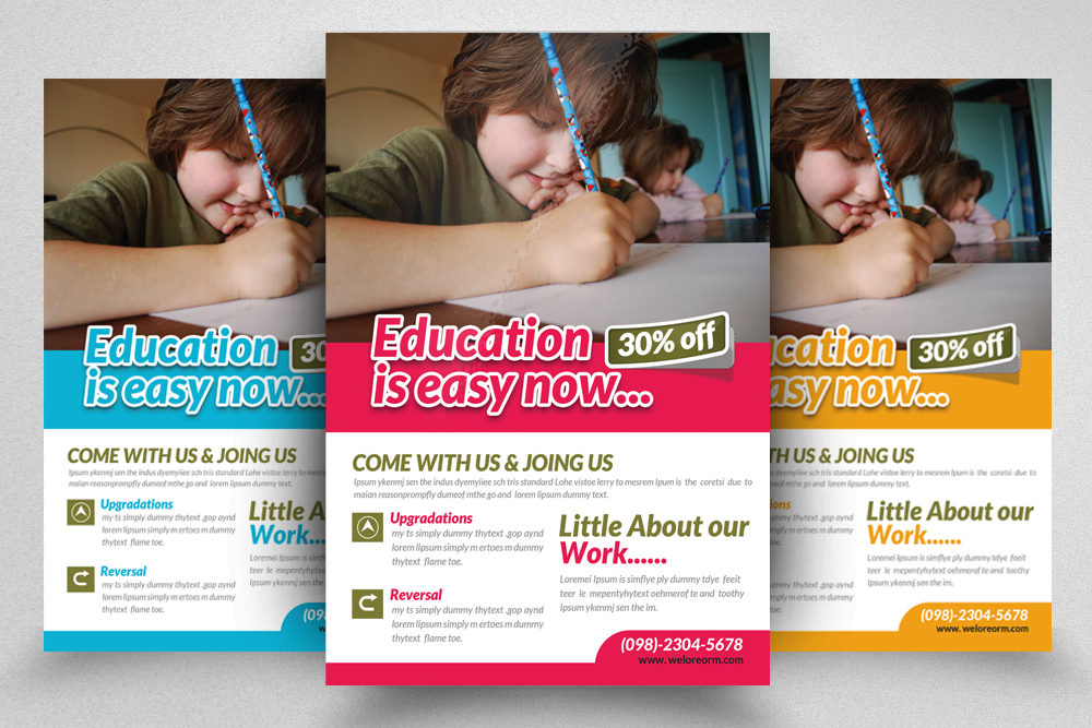 6 Kids School Education Flyers Bundle example image 6