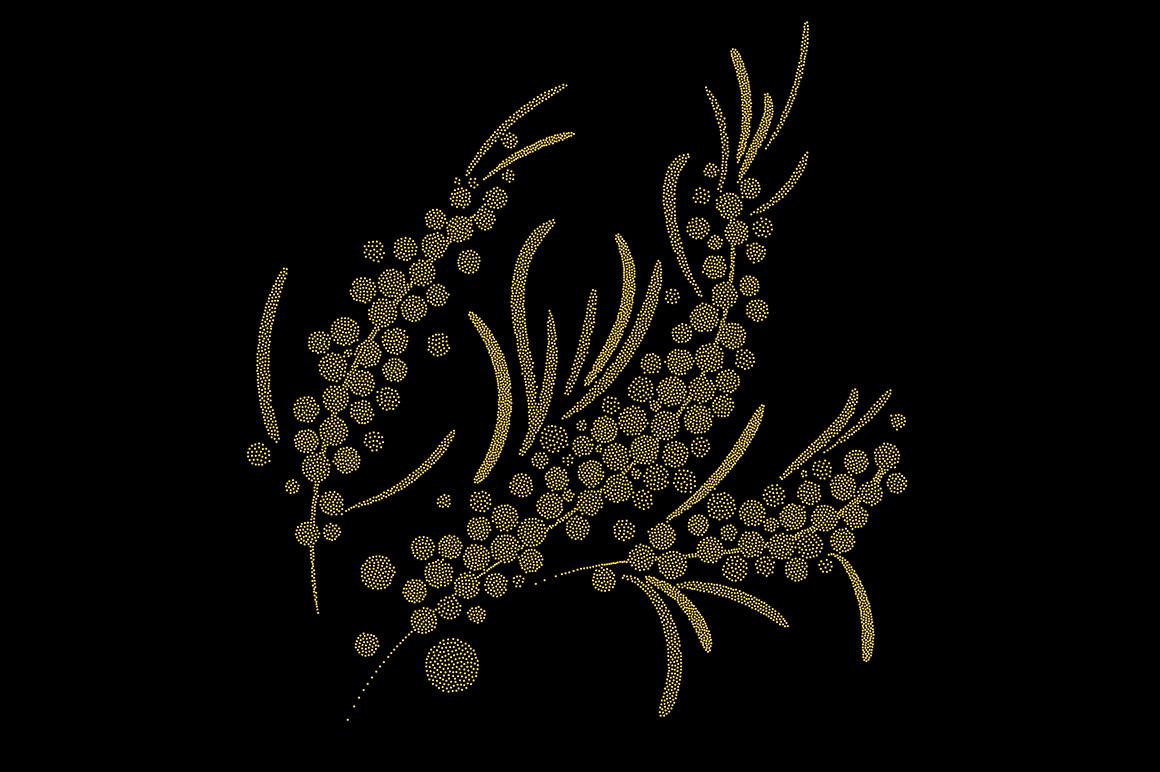 Sea buckthorn patterns set. example image 4