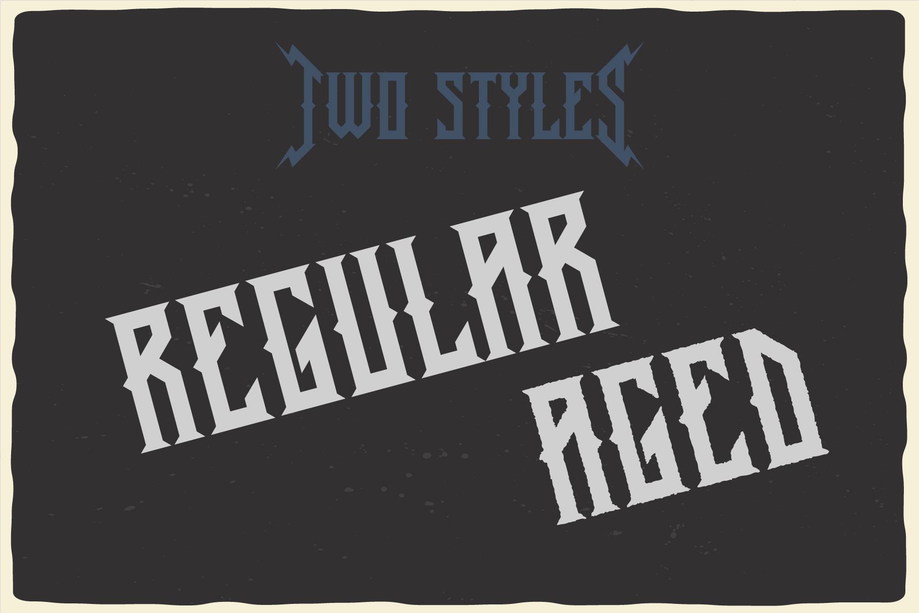 Old Biker Label Font plus Bonus example image 3