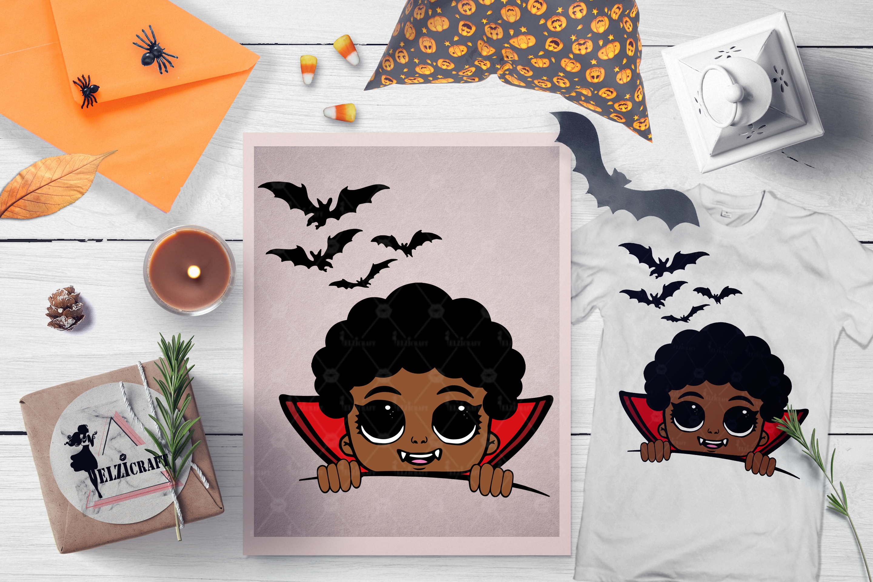 BUNDLE Halloween Afro Boys SVG Cut Files example image 11