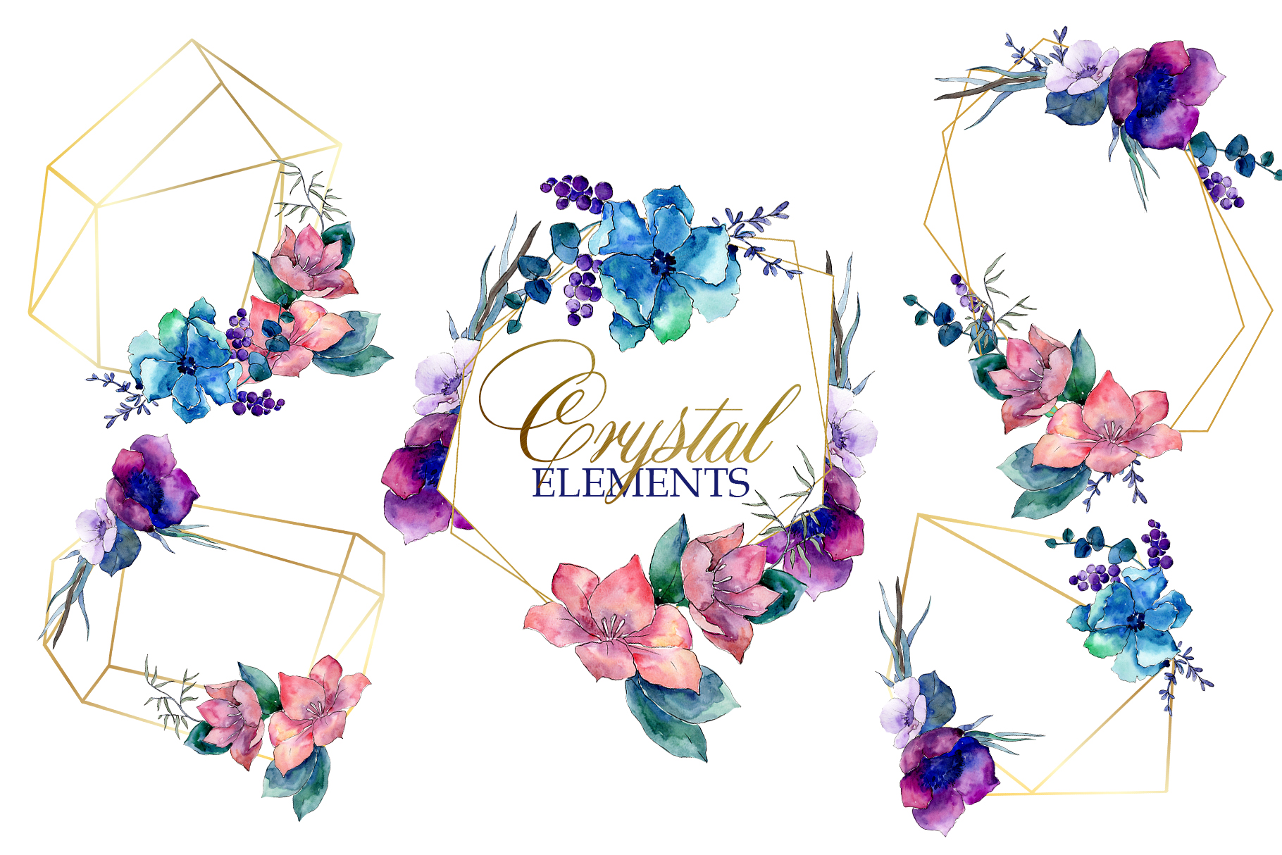 Flower heaven Watercolor png example image 8