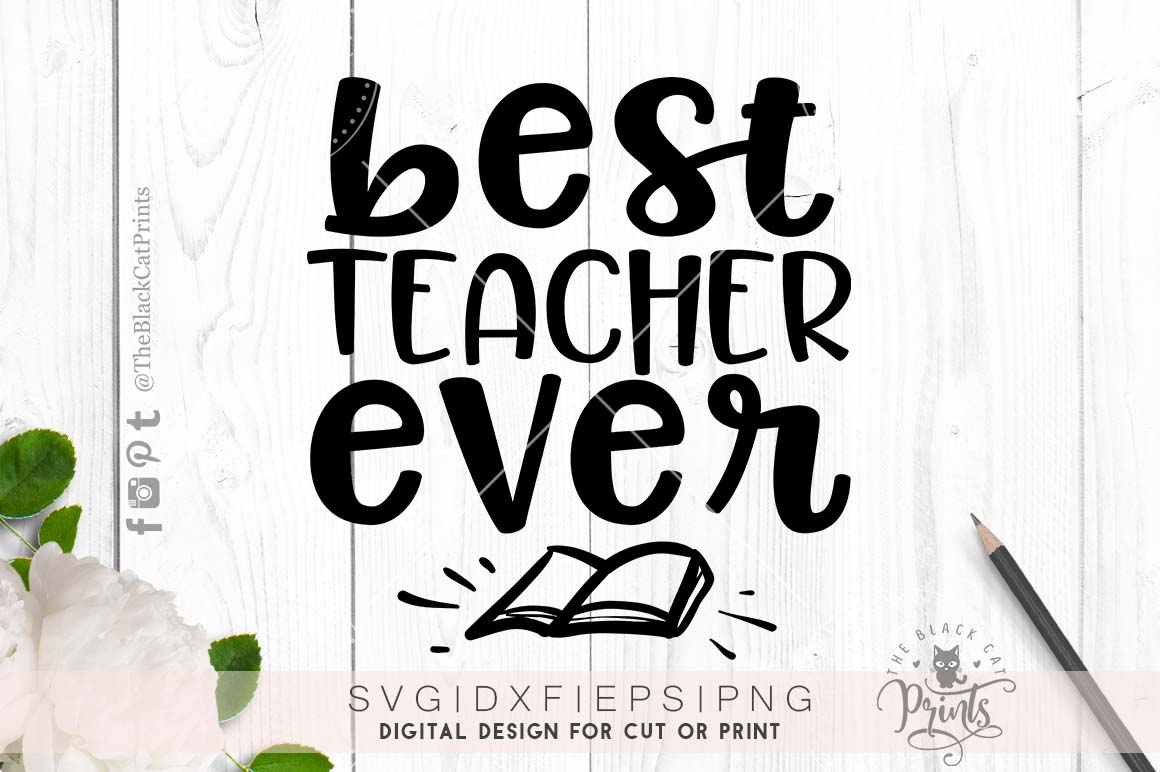 Best teacher ever SVG PNG EPS DXF example image 1