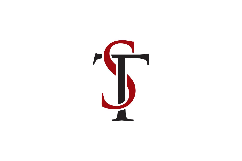 st letter logo example image 1