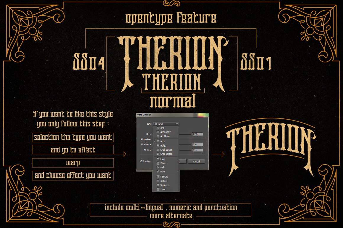 Therion Typeface + Ornament Bonus example image 6