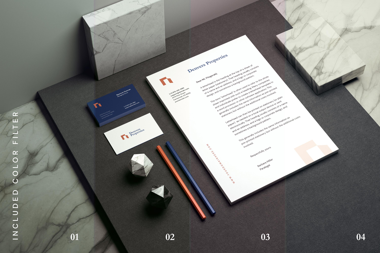 Minimal Corporate Stationery Mockup example image 10