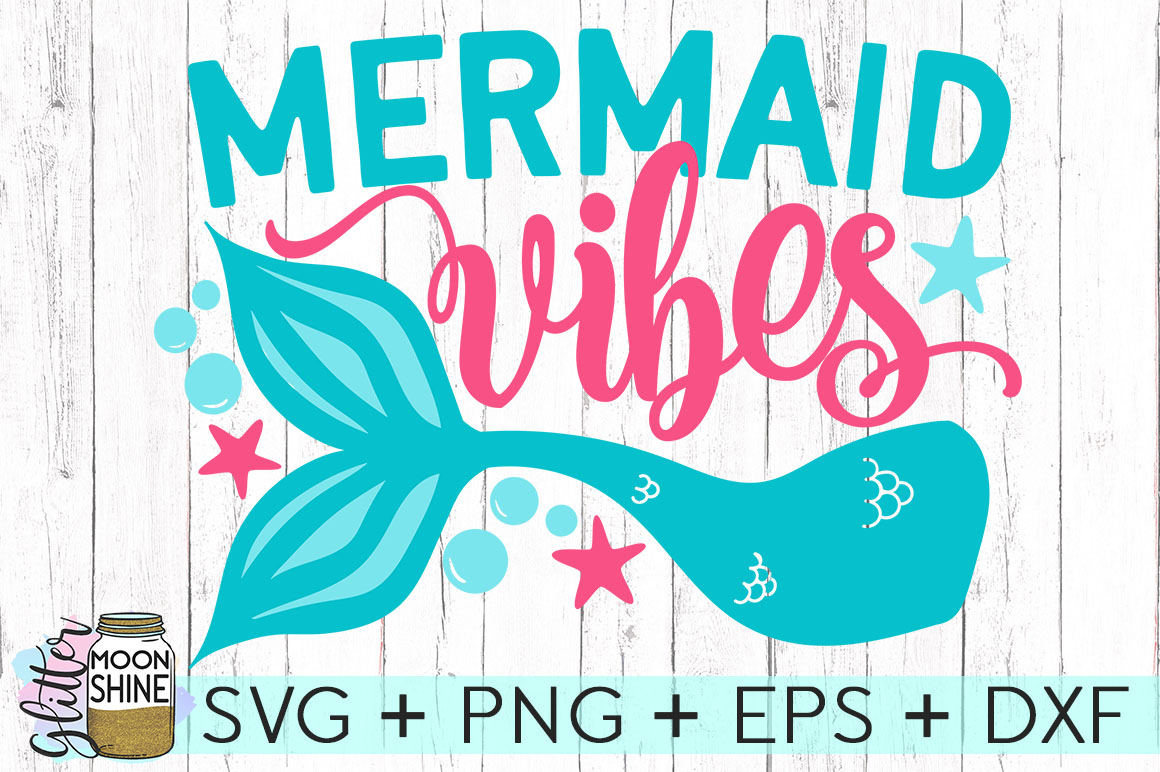 Big Mermaid Bundle of 14 SVG DXF PNG EPS Cutting Files example image 9