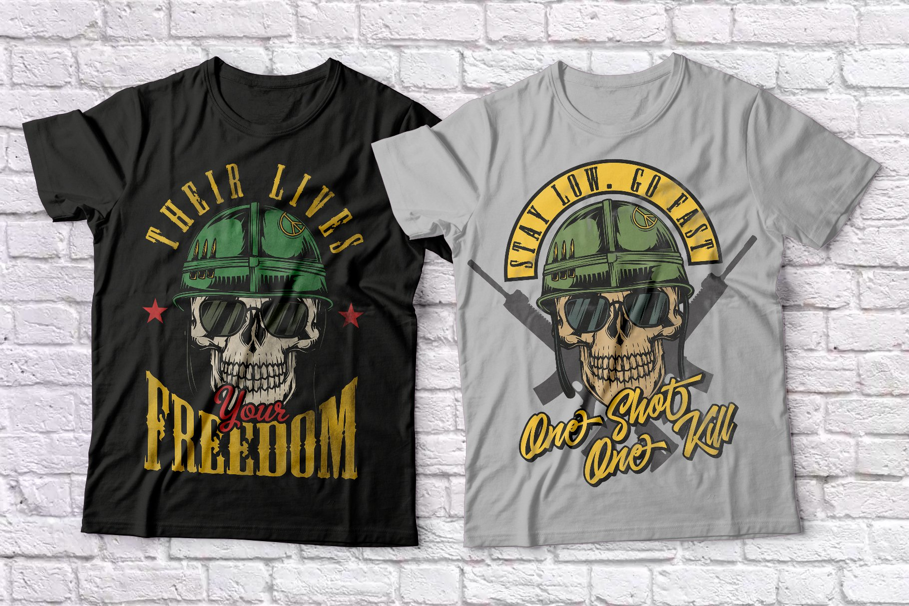 Warriors and bikers T-shirts set example image 1