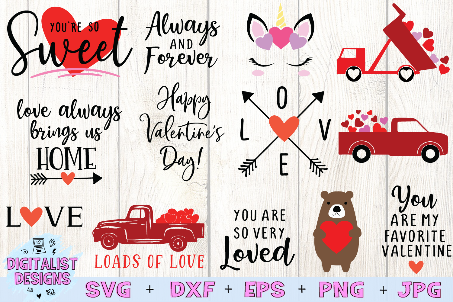 Valentines Bundle | Valentine's Day SVG Bundle | example image 3