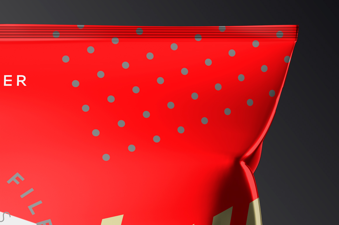 Metallic Plastic Snack Package Mockup example image 6
