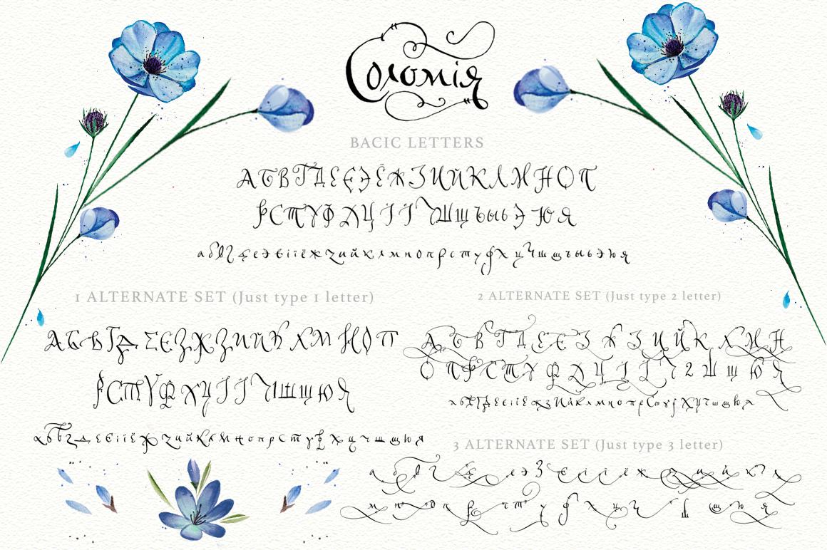 Solomiya.Tribal script font. example image 10