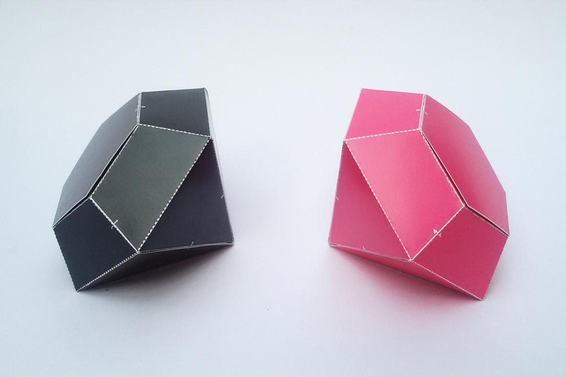 DIY Diamond favor - 3d papercraft example image 2