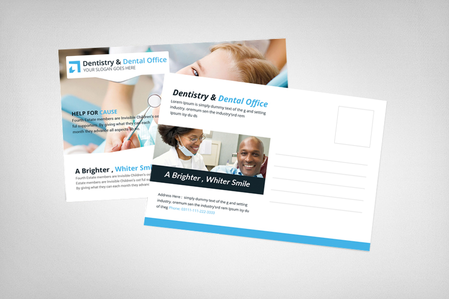 Dentistry & Dental Office Postcard Template example image 2