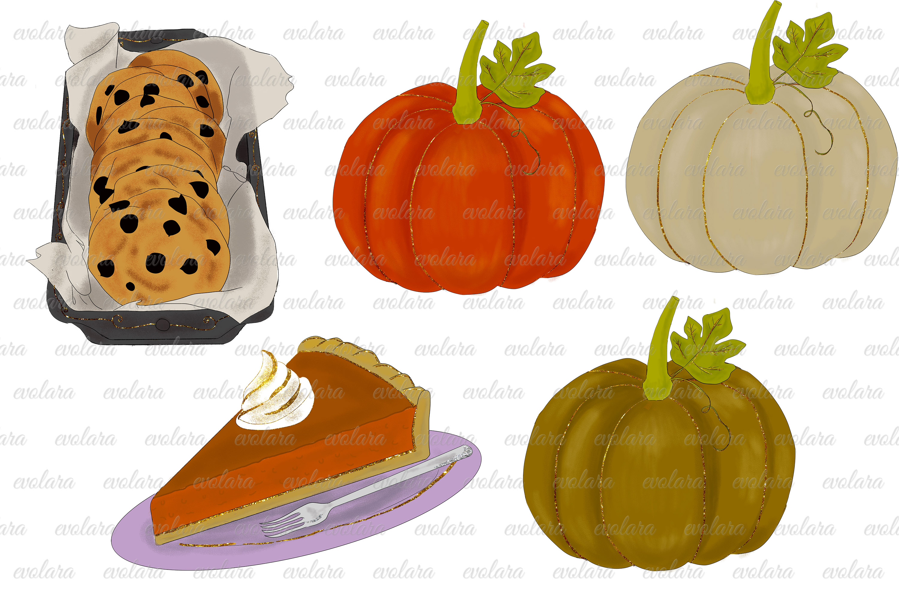 Fall Clipart Autumn Clipart Thanksgiving Clipart Pumpkin example image 5