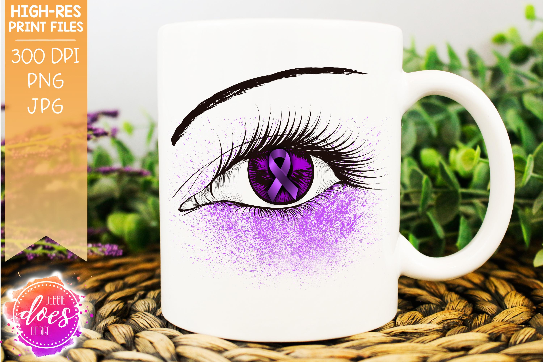 Orchid Awareness Ribbon Eye - Printable Design example image 1