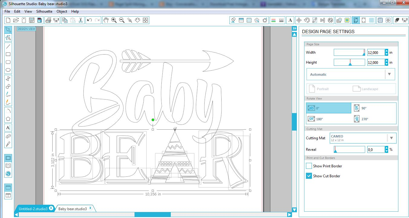 Baby bear SVG - Baby bear svg digital -Baby bear with Arrow example image 2