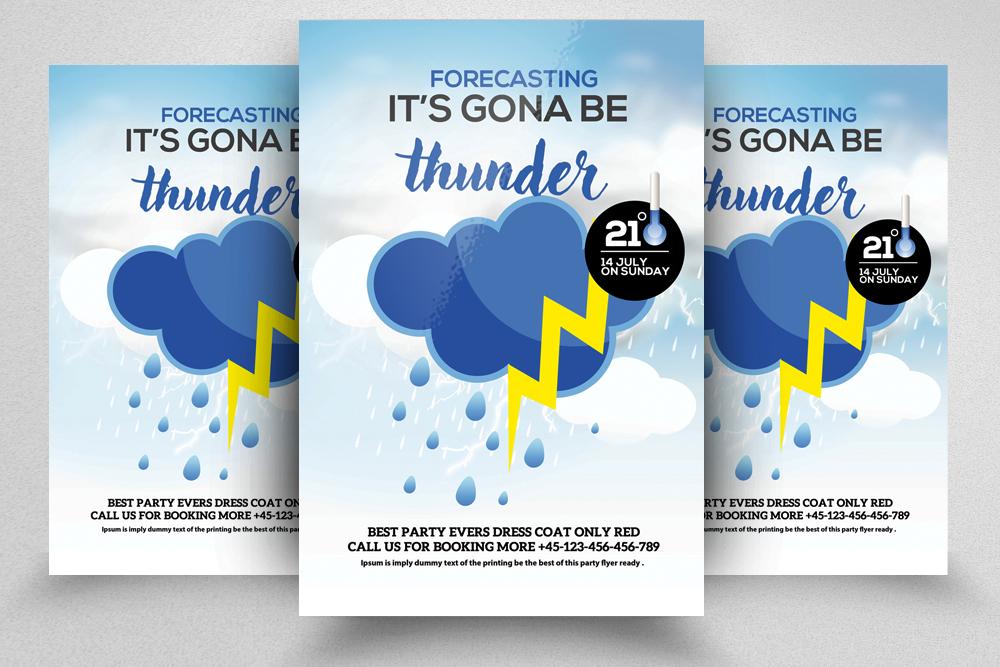 4 Weather Forcasting Flyers Bundle example image 4