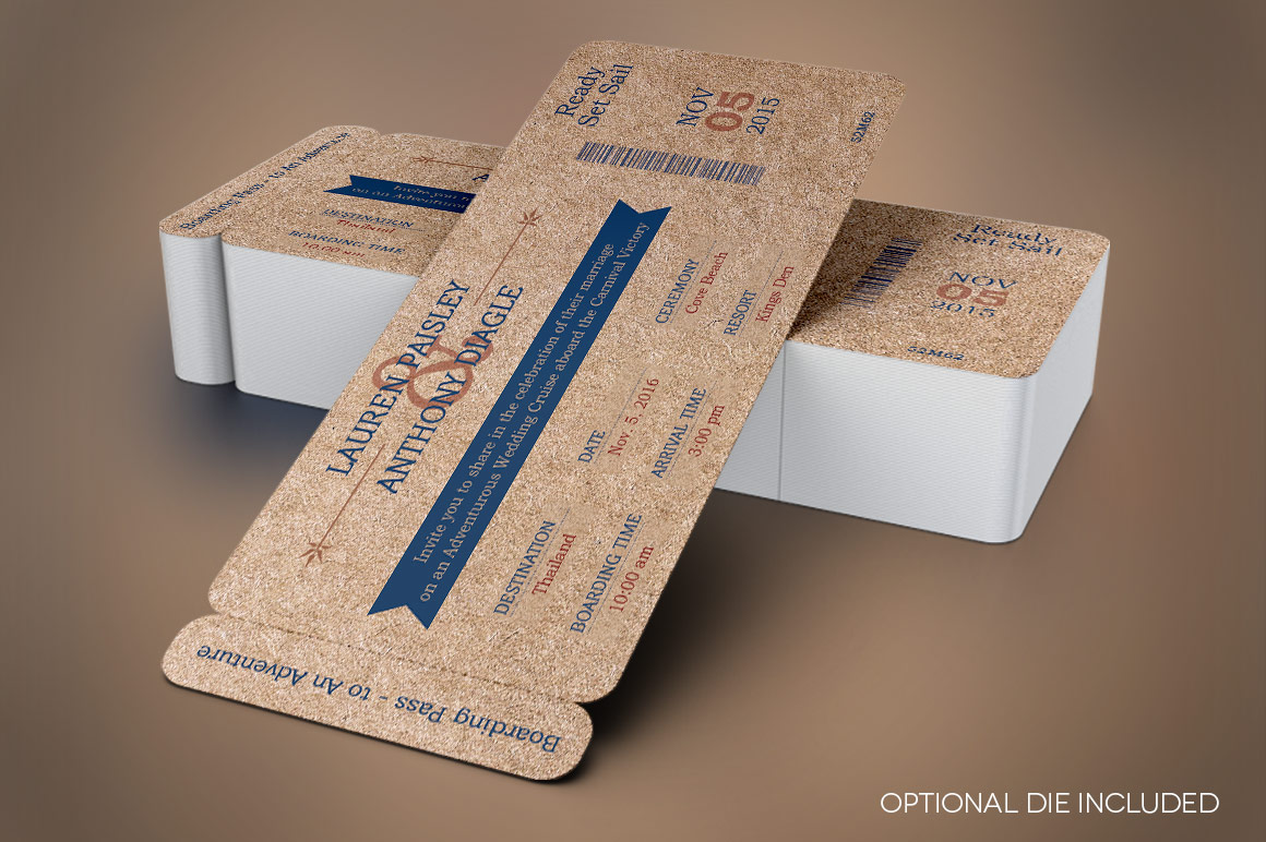 Cardboard Boarding Pass Invitation Template example image 3