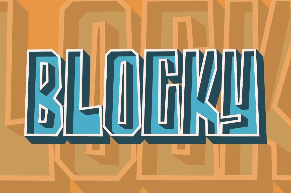 Blocky - Regular & Italic example image 8