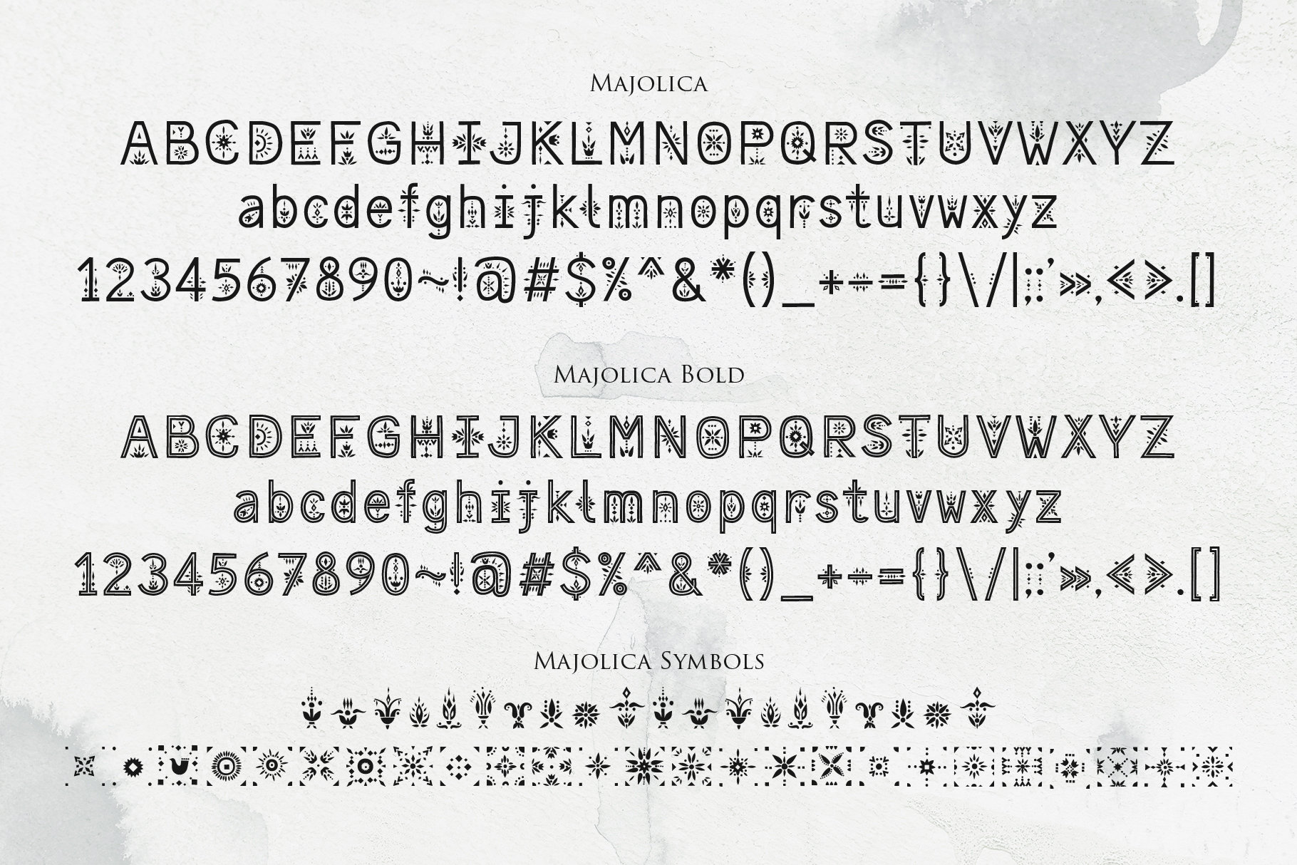 Majolica - Font Family example image 4