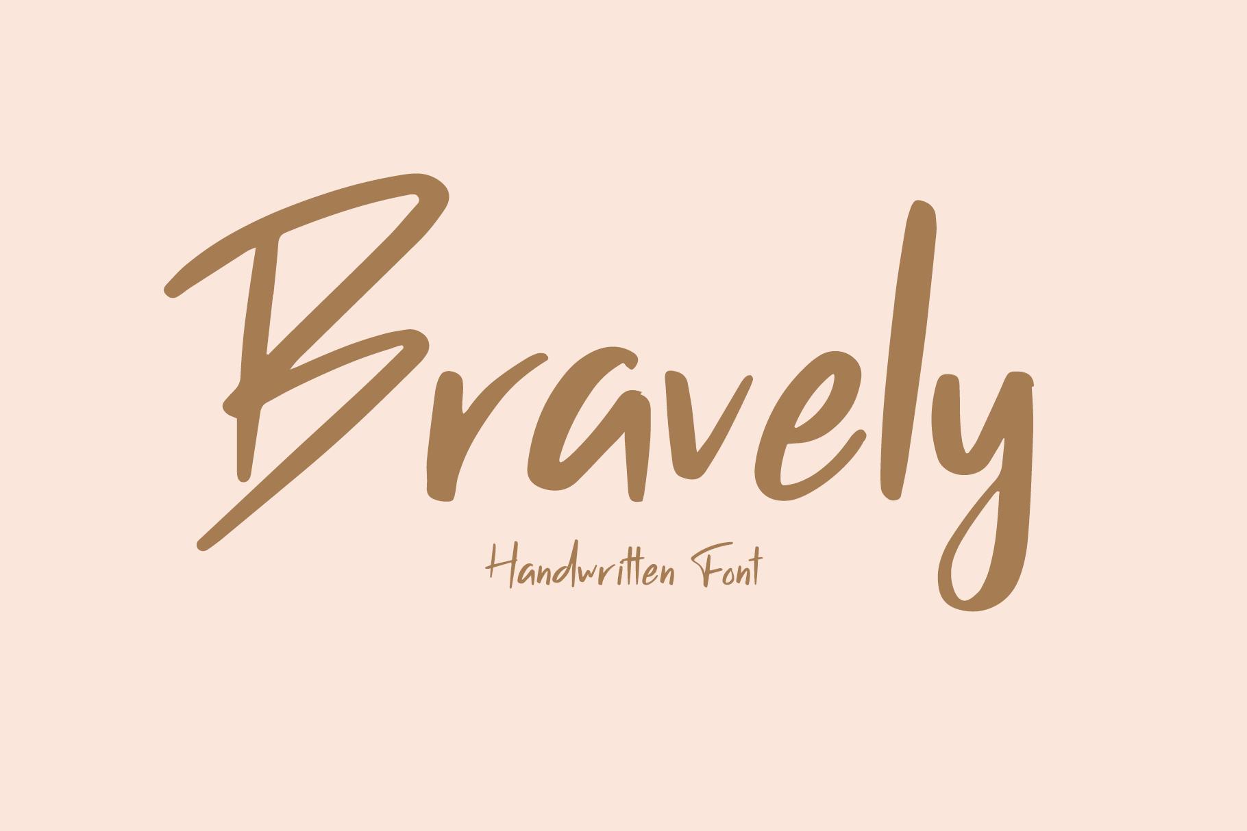 Bravely - Handwritten Font example image 2