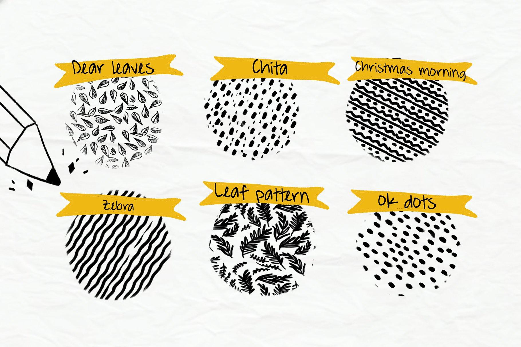 Handmade Brush Pattern - Procreate example image 2