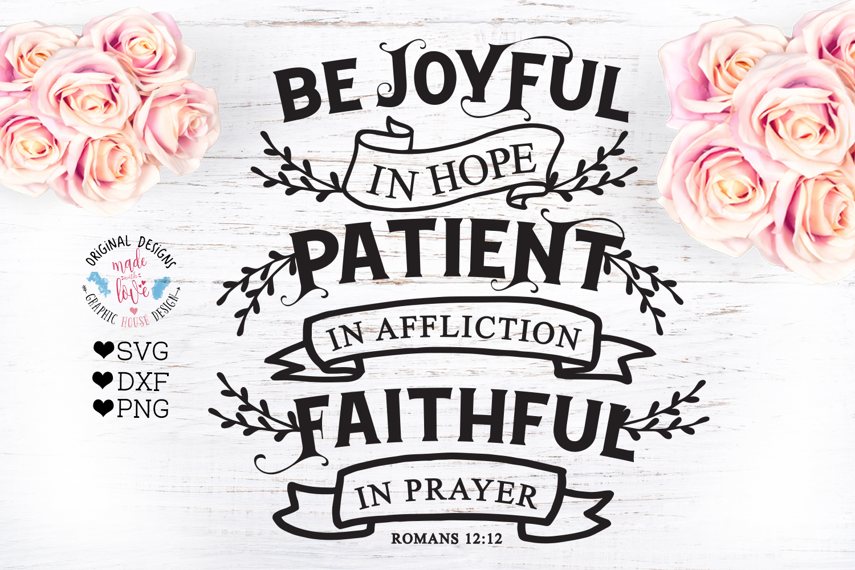 Be Joyful in Hope - Bible Verse Cut File example image 2