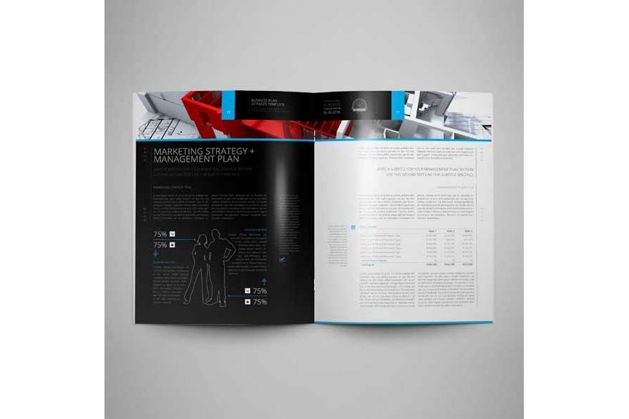 Business Plan US Letter 20 Pages Template example image 2